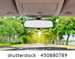 car rear view mirror inside the ... | Shutterstock . vector #450880789
