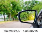 side rear view mirror on a car. | Shutterstock . vector #450880795