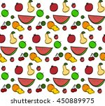 seamless pattern with hand... | Shutterstock . vector #450889975