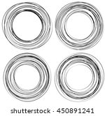 random scribble circles....   Shutterstock . vector #450891241