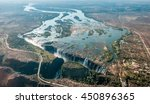 victoria falls on helicopter.... | Shutterstock . vector #450896365
