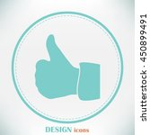 thumbs up icon   vector...   Shutterstock .eps vector #450899491