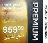 vector premium layered promo... | Shutterstock .eps vector #450904561