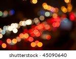 night traffic lights of the big ... | Shutterstock . vector #45090640