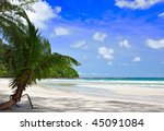 view of nice tropical empty... | Shutterstock . vector #45091084