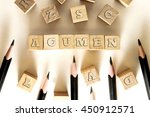 Small photo of ACUMEN word written on building block concept
