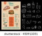 brochure or poster restaurant ... | Shutterstock .eps vector #450913351