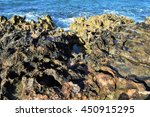 Ancient Lava Flow And Coral...