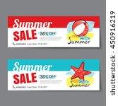 summer sale voucher template... | Shutterstock .eps vector #450916219