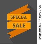 special sale orange ribbon... | Shutterstock .eps vector #450918721