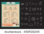 restaurant food menu  design...   Shutterstock .eps vector #450920245