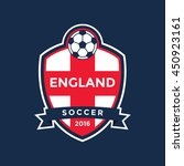 england soccer flag color badge ... | Shutterstock .eps vector #450923161
