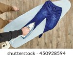 a studio photo of ironing and... | Shutterstock . vector #450928594