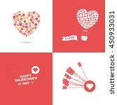 vector of valentines days... | Shutterstock .eps vector #450933031