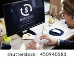 financial trade economics... | Shutterstock . vector #450940381