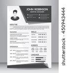 job resume or cv template...   Shutterstock .eps vector #450943444