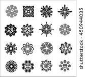 set of graphic flowers.vector... | Shutterstock .eps vector #450944035