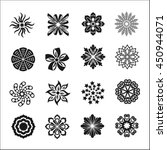 set of graphic flowers.vector... | Shutterstock .eps vector #450944071
