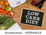 low carb diet fitness and... | Shutterstock . vector #450944614