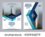 Blue background for Brochure Flyer cover page annual report design Layout vector template | Shutterstock vector #450946879
