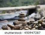 pile of balanced stones as zen... | Shutterstock . vector #450947287