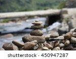 pile of balanced stones as zen... | Shutterstock . vector #450947287