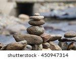 pile of balanced stones as zen... | Shutterstock . vector #450947314