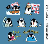 penguin cartoon action vector... | Shutterstock .eps vector #450948415