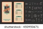 restaurant food menu vintage... | Shutterstock .eps vector #450950671