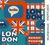 bright british vector seamless... | Shutterstock .eps vector #450951835
