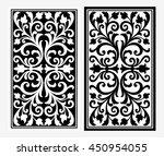 vector vintage border frame... | Shutterstock .eps vector #450954055