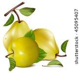 photo realistic vector. apple... | Shutterstock .eps vector #45095407