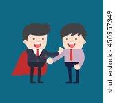business people shaking hands.... | Shutterstock .eps vector #450957349