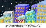 Acrylic Illustration Of City I...