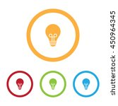 colorful light bulb icons with...