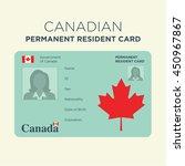 canadian permanent resident card | Shutterstock .eps vector #450967867