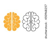 brain icon. flat vector... | Shutterstock .eps vector #450968257