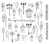 hand drawn doodle city street... | Shutterstock .eps vector #450980185