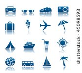 travel and tourism icon set | Shutterstock .eps vector #45098593