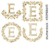 Golden E Letter Ornamental...