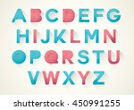 vector of stylized paper font... | Shutterstock .eps vector #450991255