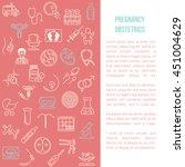 modern line style design card... | Shutterstock .eps vector #451004629