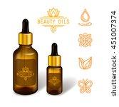 gel   serum   oil glass bottle... | Shutterstock .eps vector #451007374
