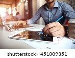 business adviser analyzing... | Shutterstock . vector #451009351