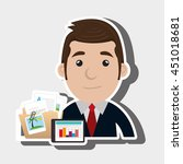 businessman isolated icon... | Shutterstock .eps vector #451018681