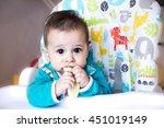 baby asian eating feeding...   Shutterstock . vector #451019149