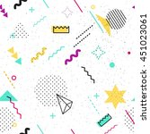 trendy geometric elements...   Shutterstock .eps vector #451023061