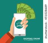 shopping online concept...   Shutterstock .eps vector #451028689