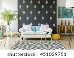 new design apartment with... | Shutterstock . vector #451029751