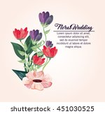 floral wedding represented by... | Shutterstock .eps vector #451030525